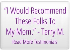 """I would Recommend These Folds To My Mom."" - Terry M. Read More Testimonials"